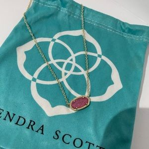 Kendra Scott pink drusy necklace